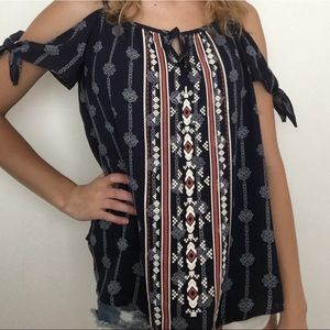 Juniors tank top/off the shoulder blouse